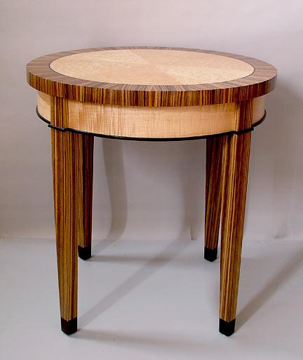 Merveilleux Birdseye Maple End Table W/ Zebra ...